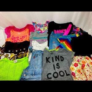 Lot Girl's Medium Sz 8 Clothing (15ct)